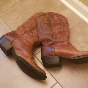 Ariat leather boots men size 14